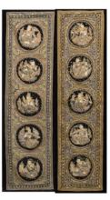 Pair of Indian Embroidered Panels