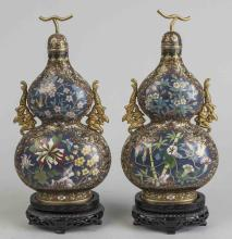 Pair of Chinese Cloisonne Bottles