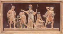 Ceramic Relief of Roman Scene