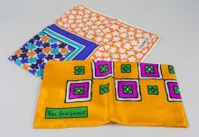 Two French Silk Designer Scarves