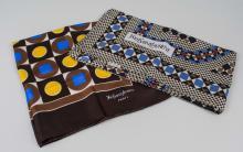 Two Yves St. Laurent Silk Scarves