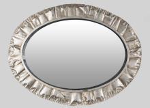 Contemporary Oval Mirror