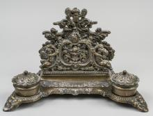 Rococo Style Brass Inkstand