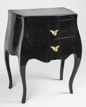 Black Lacquer Petit Commode