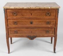 Continental Marble Top Commode