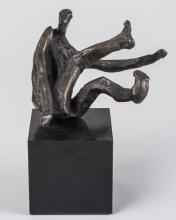 Figure of Falling Man, Bronze Sculpture (20th C)