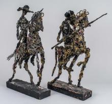 Pair of Jousting Figures