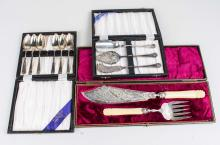 Three Boxed Sets of Flatware