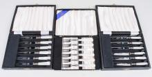 Boxed Sets of Mother of Pearl Handled Flatware