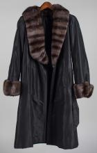 Fur Trimmed Rain Coat