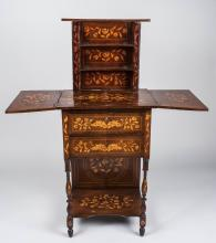 Marquetry Harelquin Top Table