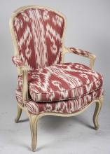 Louis XV Style Cream Painted Fauteuil