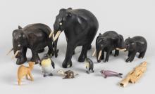 Carved Wood Elephants
