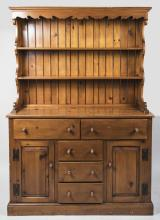 Vintage Fruitwood Hutch