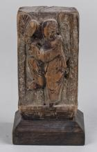 Asian Carved Wood Sculpture of a Man