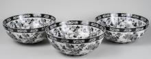 Set of Three Ethan Allen Chinese Style Bowls