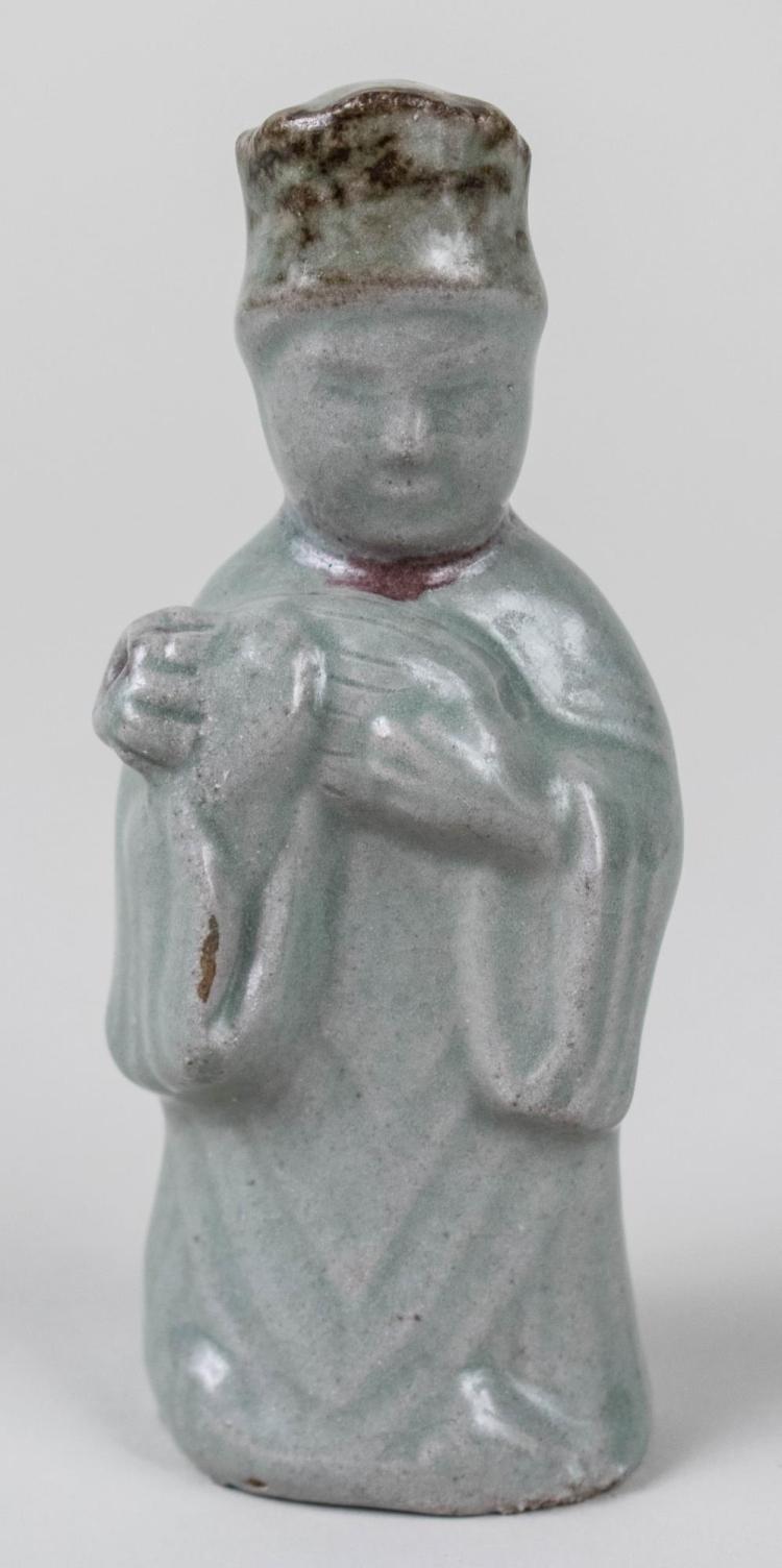 Korean Celadon Porcelain Figural Water Dropper