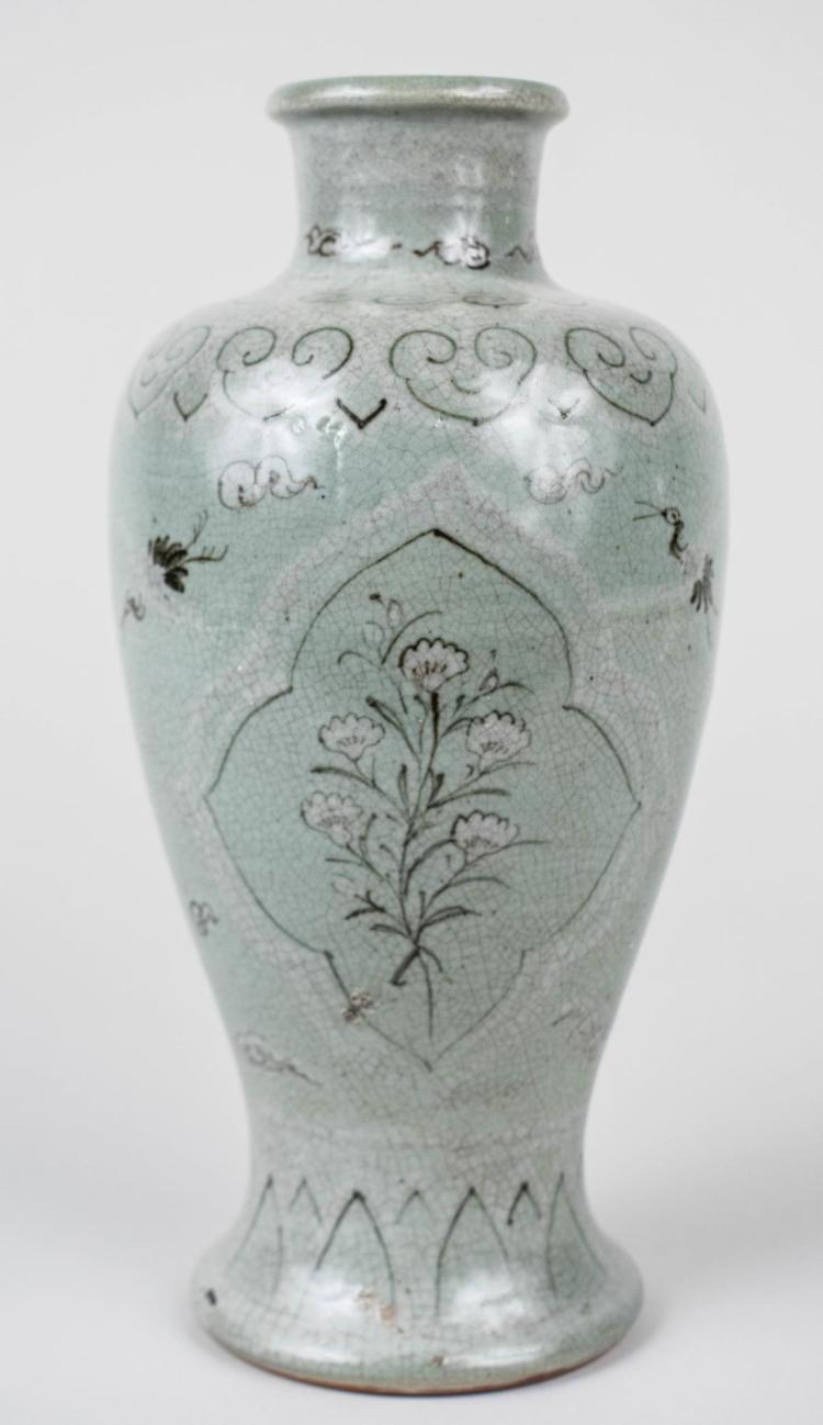 Korean Celadon Porcelain Flower Vase
