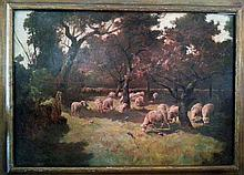 Charles Emile Oliver Grazing Sheep