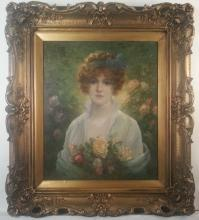 Raymond Lindy Portrait of young woman