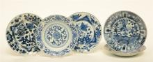Five Chinese blue and white decorated plates, 18thC, Diameter 21 - 21 - 21,