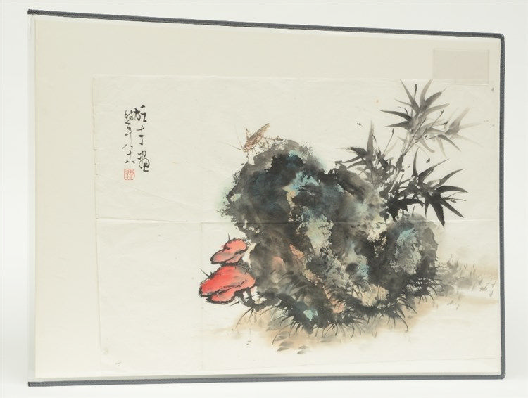 A Chinese watercolour on paper, signed by the artist, 45,5 x 67,5 cm
