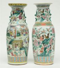 A Chinese famille rose vase, decorated with cockerels and flowerbranches, 1