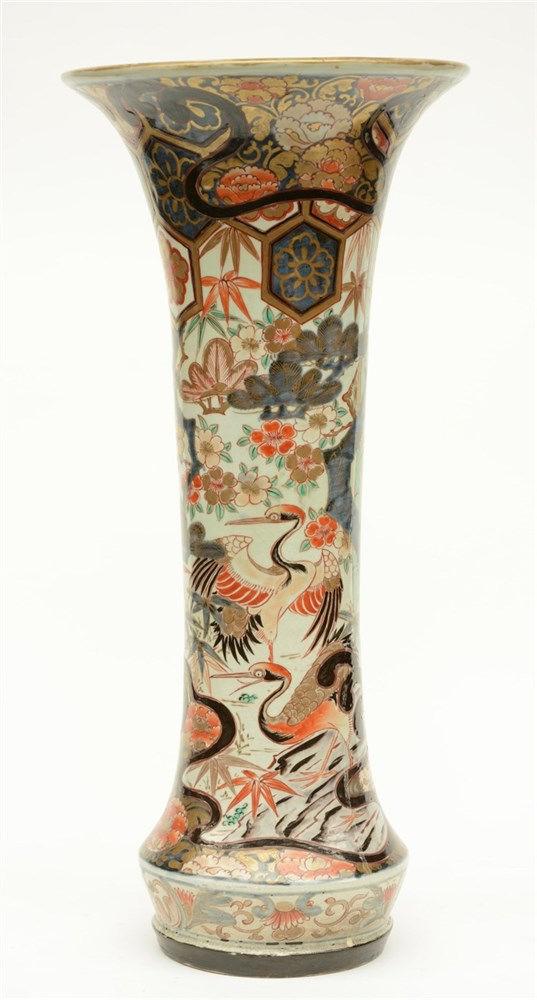 A Japanese Imari porcelain vase, first half of the 19thC, H 62,5 cm