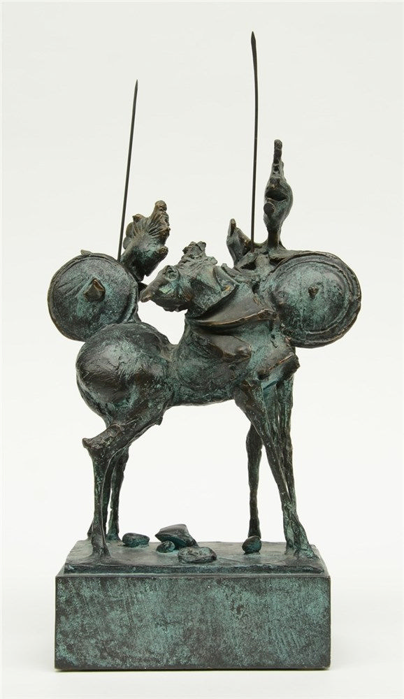 Zoli C., untitled - an apocalyptic horse rider, bronze, H 38 cm