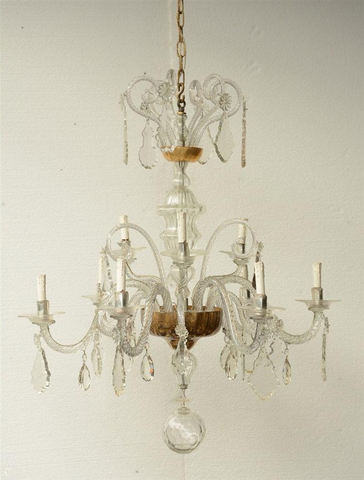 An impressive Venetian chandelier, H 120 - Diameter 95 cm