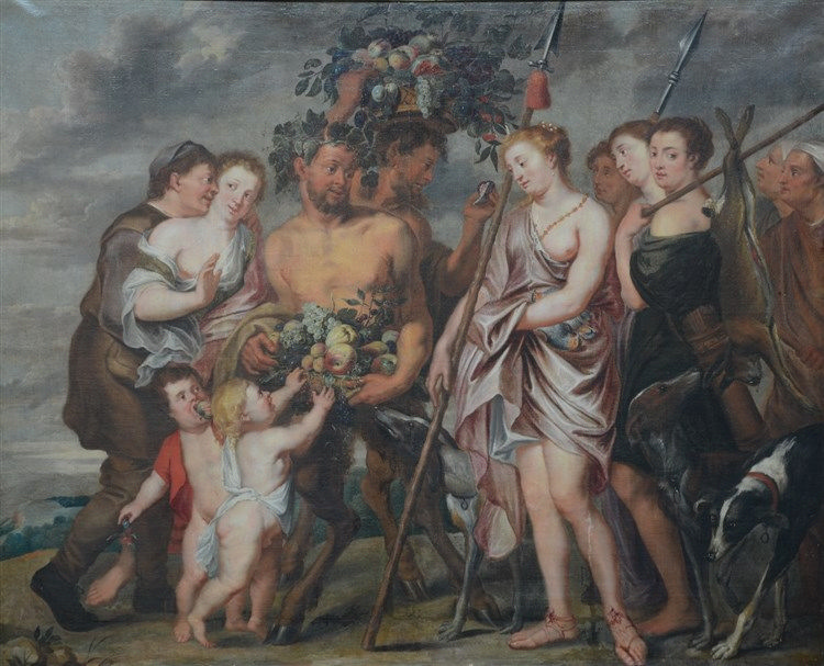 Van Thulden Th. (attrib. to), 'the triumphant return of Diana and Bacchus'