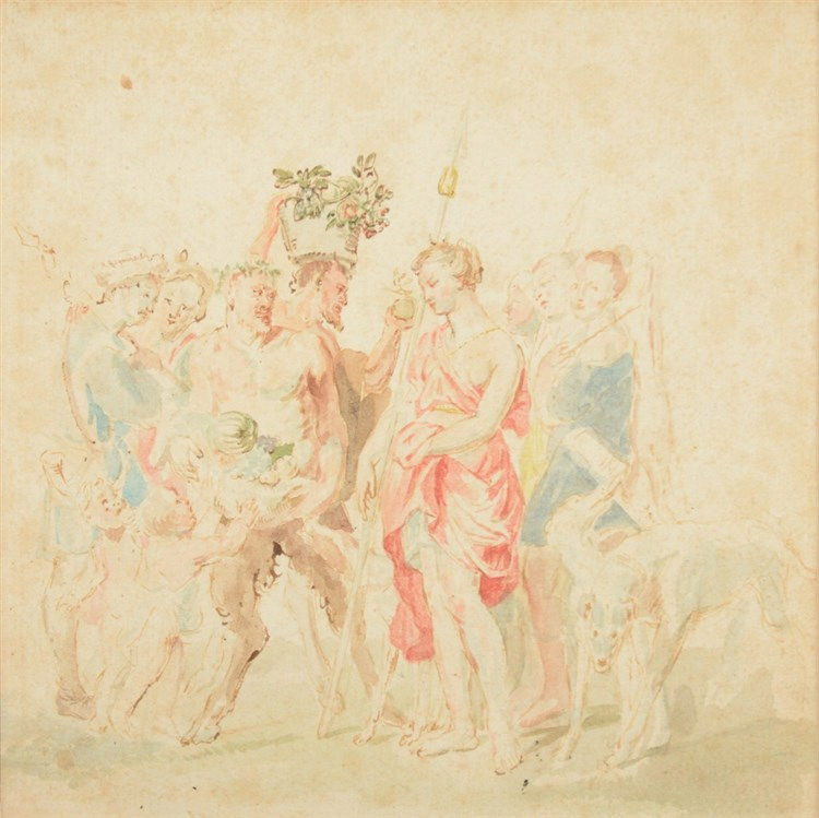 Unsigned, 'the triumphant return of Diana and Bacchus' (a copy after P. P.
