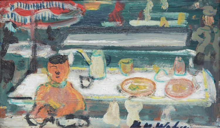 Wolvens H.V., 'Chez Siska', oil on board, dated 1970, 16 x 26,5 cm