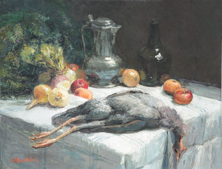 Bastien A., still life, oil on canvas, 70,5 x 90,5 cm