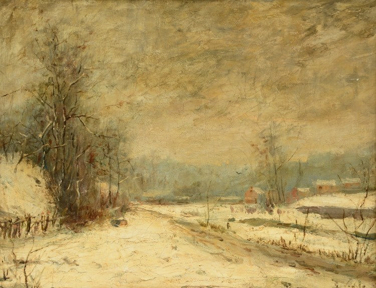 Vogels G., a wintery landscape, oil on canvas, 36,5 x 46,5 cm