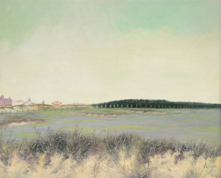 Gorgini, a view on the Knokke golf court, oil on canvas, 59 x 73 cm