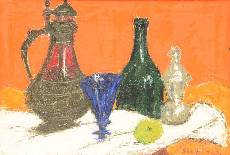 Slabbinck R., a still life, oil on canvas, 38 x 55 cm