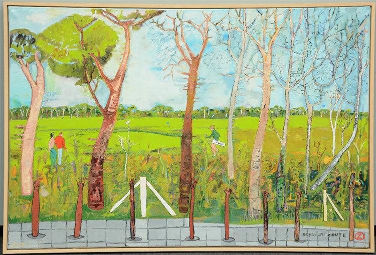 Lambert, 'Royal Golf Zoute', oil on canvas, 100,5 x 150,5 cm
