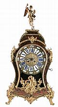 A cartel clock in Louis XV-style, Boulle marquetry and bronze mounts, marked S. Marti, H 74 cm (damages)