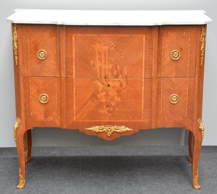 A transition style commode 39 bois de rose 39 and marquetry ven - Commode en bois de rose ...