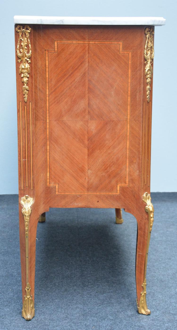 A transition style commode 39 bois de rose 39 and marquetry ven - Commode bois de rose ...