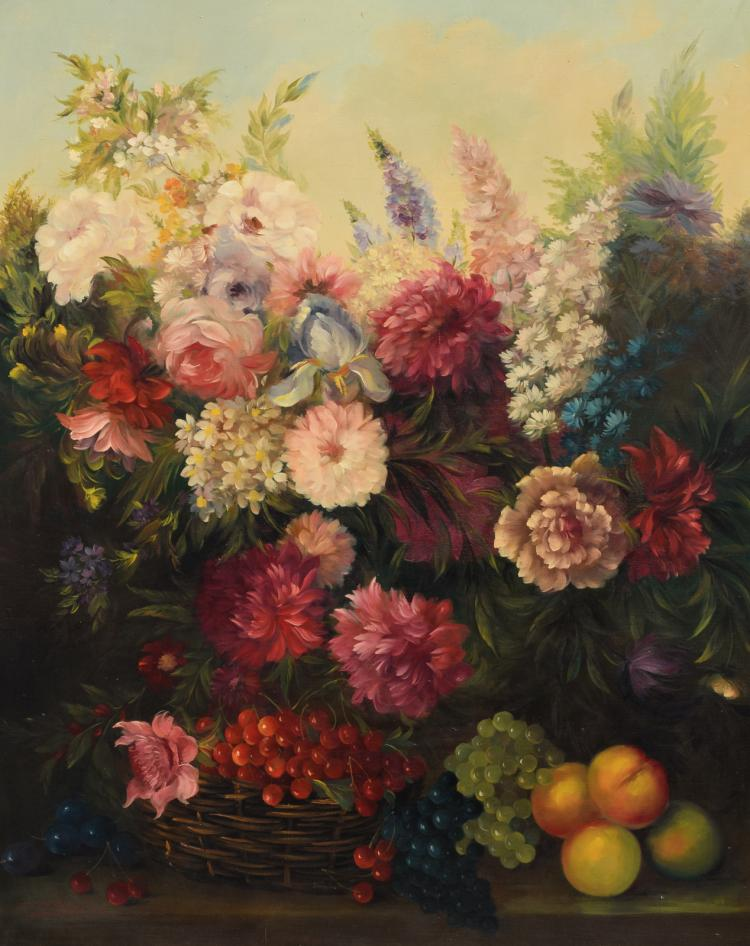 Carlier M., a still life with flowers, oil on canvas, 80 x 100 cm