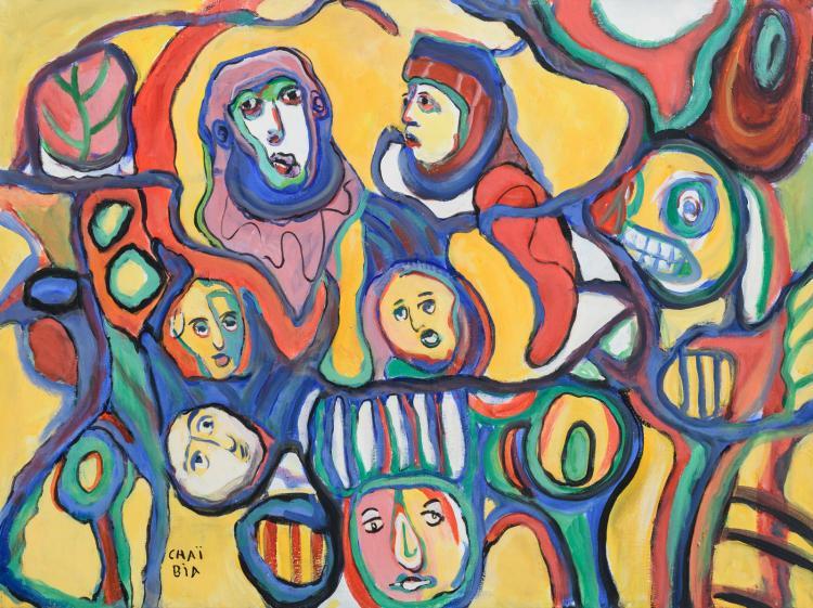 Chaï Bia, no title, oil on canvas, 60 x 80 cm