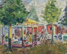 Unsigned, the fair, oil on canvas, 50 x 60 cm