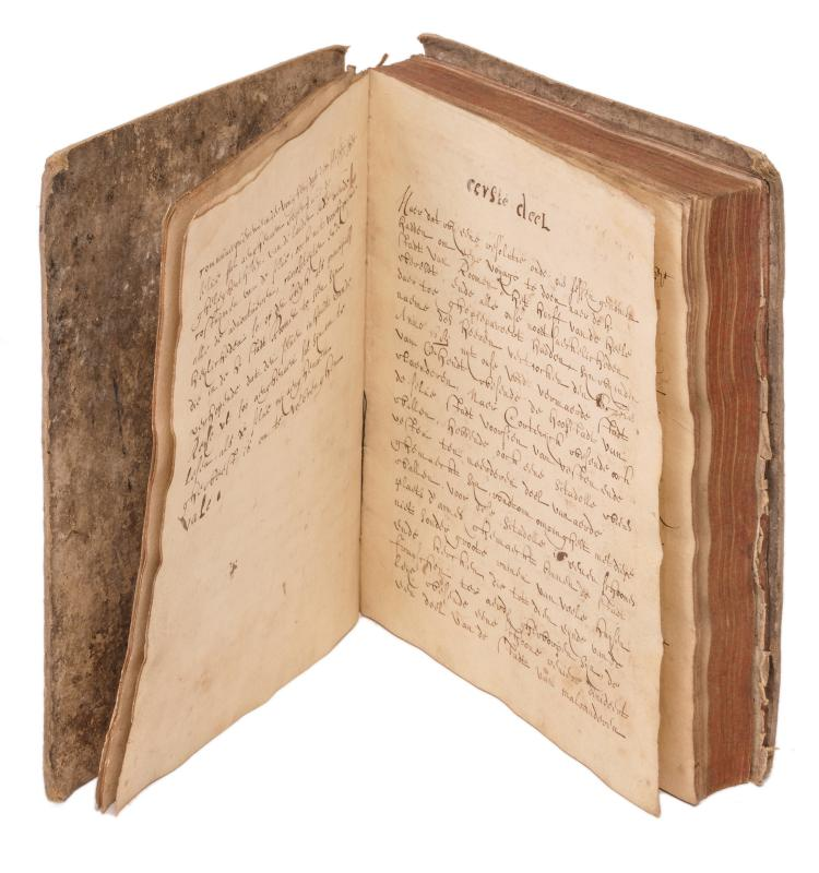 A 17thC manuscript of a trip to Rome by an inhabitant of the city of Ghent