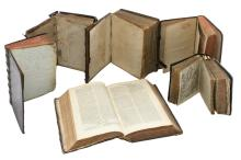 Six 17th and 18thC books (religion, law, etc.)