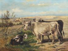 Schouten P., cattle in a landscape, oil on canvas, 65 x 85 cm