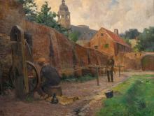 Van Acker F., 'Le cordier brugeois' (roper Joseph Lerou), oil on canvas, dated 1916, 60 x 77 cm