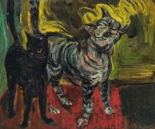 Schwartz L.O., the cats, oil on canvas, 45 x 53,5 cm