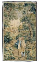 A fragment of an early 17thC Flemish tapestry,122,5 x 216 cm